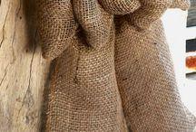 Idee de nappe de noel avec la jute