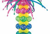 composizione con palloncini per feste