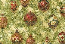 "Holiday Flourish 4 by Robert Kaufman / ""Holiday Flourish 4"" by Peggy Toole for Robert Kaufman Fabrics 2011"