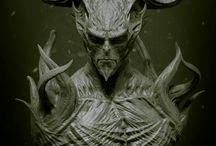 demony potwory