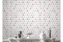 Papier peint motif de triangle