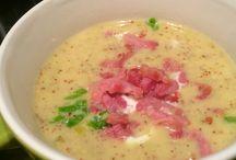 mosterd soep met spekjes