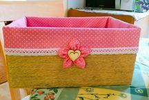 Košíček z papírové krabice