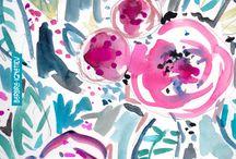 미국-꽃 패턴