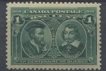 Quebec History on Stamps