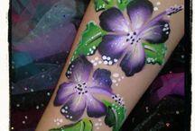 Schmink bloemen