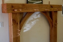 Timber Fireplace Mantle
