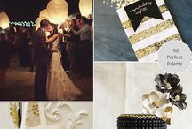 Megan 10.2.15 / William Aiken House Gold, Black, Cream, White   Glitz, Glam! / by Pure Luxe Bride
