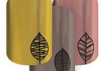Jamberry Autumn-Inspired Nail / All Autumn inspired Jamberry nails!