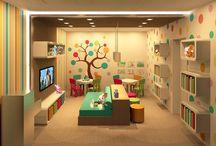 sala de brinque do e escritorio