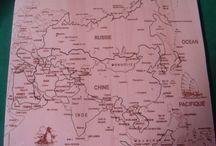 Puzzle géographique artisanal Carte de l'Asie