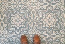 vinyl floor painted