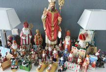 Sinterklaas / St. Nicolaas 'beelden' / kleine collectie uit mijn verzameling heilige en commerciële beelden