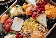 Rustic cheese n fruit platters