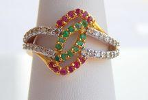 Ruby Emerald Rings