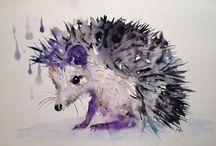 Animal water color