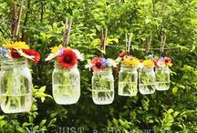 Mason Jar Madness / Because I love a Mason jar... I find all sorts of crazy ways to implement their cuteness.