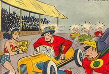Racing -- Comics / by GCD Grand Comics Database