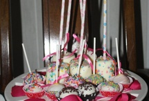 What we made.  CAkepops, Marshmallows & Moustaches!