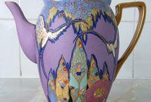 Purple & Lilac Teapot & Teacup