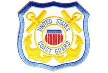 Biker Patches - Coast Guard / Embroidered Coast Guard patches you can iron on or sew on to your clothing. Patches for Coast Guard Veterans! / by The Cheap Place