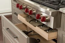 kitchen cabinet storage ideas. Great deep drawers perfect storage pans, love storage for the lids