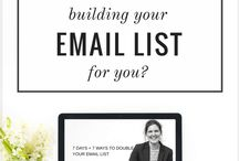Email list building + newsletters / Find strategy and inspiration to help you build the email list you deserve.