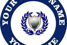 Customized Golf Logo / Create your own Golf logos with names, nicknames, anniversary dates, birthday on it to make iron-on transfers, decals stickers, patches, labels, etc. You also can change background, foreground, images inside the circles. No Minimum Order. If you have any ideas about the Golf logos, give it a shot, you would like the logos which are involved with your thoughts.