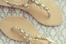 Flat beach wedding shoes