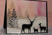 Deer cards & scrapbook pages