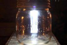 solar light mason jars / by Sandie Carper
