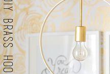 diy brass hanging pendant lamp