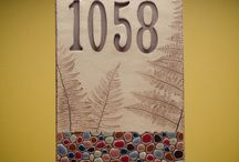 House numbers Pottery