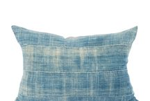 HOC: Denim Pillow / How to decorate a home with denim pillows.