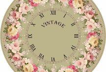 Shabby Chic and Vintage Printable Clocks