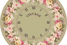 Shabby Chic and Vintage Printable Clocks