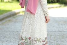 Sade Dantelli Prenses Elbise / tesettür elbise, dantelli elbise, bayan elbise, kadın elbisesi, uzun elbiseler