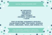 thesisleader.com / An industry leader in creating custom dissertations and essays for all students