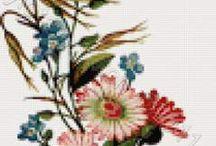 Flowers cross stitch / Flowers in cross stitch kits, patterns or charts. / by Yiota's cross stitch