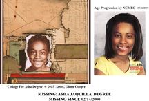 Missing Child Case Asha Degree / My blog, 'Finding Asha Degree: Shelby's Sweetheart,' focuses on her year 2000 case that's gone cold. 9 year old, Asha Degree went missing from her home on Valentine's Day. Offer your insights as we get closer to finding her and bringing her home.