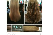 Hair Extensions before and after / Before And After pictures of actual clients using Aqua Hair Extensions