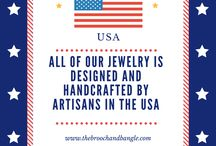 Memorial Day - The Brooch and Bangle / The Brooch and Bangle honors and remembers all those who have served our country.