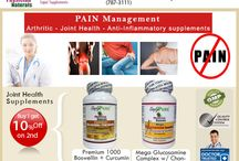 Joint Health | Arthritis Pain | Anti Inflammatory Supplements / Bones.. Muscle, Joint Health Anti Inflammatory Supplements: Managing arthritis, anti-inflammatory, bone health...  pain traditional medications... inflammation and stiffness related to rheumatoid arthritis...with 1.Glucosamine and Chondroitin… 2.Boswellia Serrata… 3.Curcumin… 4.Bone Health Complex… 5.Vitamin D appears to relieve pain, improve joint mobility, and slow osteoarthritis-related damage to the joints, Best Joint Supplements Arthritis Relief, Natural Anti Inflammatory...