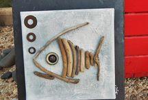 Pesci legno/pietre