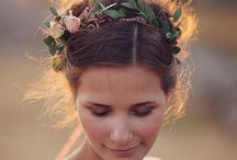 FLOWER CROWNS / Flower crowns, flower combs, and fresh hair flowers for brides, bridesmaids, and flower girls.