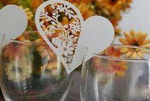 marque place,porte noms,etiquettes coeur mariage