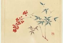 Japan / inspiring japanese paintings and woodblock printings