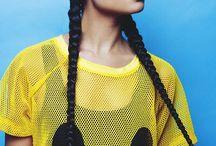 Celebrities-trenzas / Tablero de ideas para peinados trenzados para eventos.
