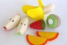 frutas fieltro