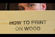 print on wood